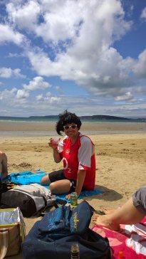 Aurel a la plage © DD